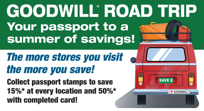 Goodwill Road Trip - Your passport to a summer of savings!